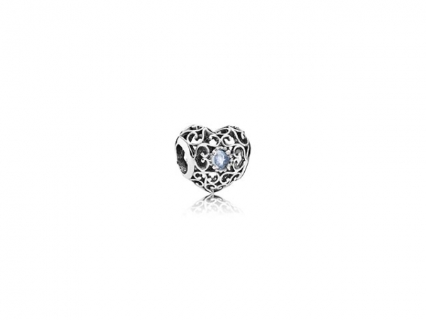 March Signature Heart by Pandora