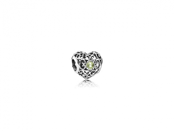 August Signature Heart by Pandora